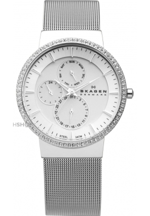 Skagen Women's  Quartz Stainless Silver Dial Watch