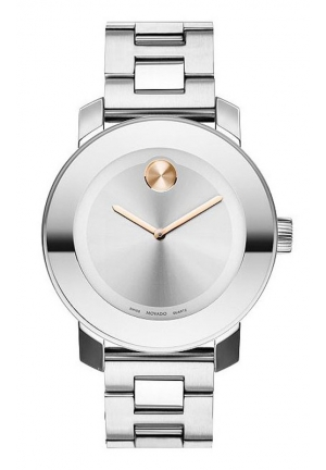 MOVADO Bold Silver Diakl Stainless Steel Ladies Watch 36mm