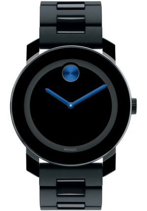 MOVADO BOLD LARGE BLACK BRACELET UNISEX WATCH 3600099, 42MM