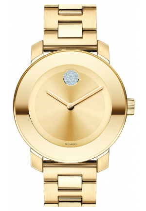 MOVADO Bold Medium Gold Ion Plated Stainless Steel Bracelet Watch 36mm