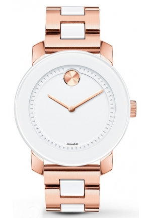 Movado Bold Women's  Gold Tone Gold Plated Stainless Steel Watch 36mm