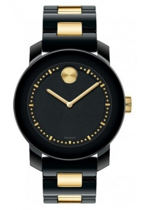Movado Bold 3600172 Women's Two Tone Black Stainless Steel Band
