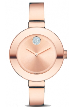 MOVADO Bold Rose Dial Rose Gold Ion-plated Ladies Watch