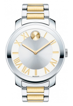MOVADO Movado Bold Silvered White Dial Two-tone Stainless Steel Watch , 39mm