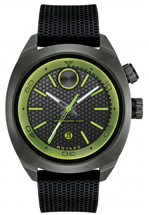 MOVADO Bold Black Dial Black Silicone Men's Watch