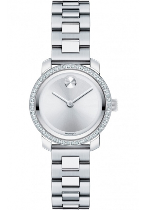 MOVADO Bold Silver Dial Stainless Steel Ladies Watch25mm
