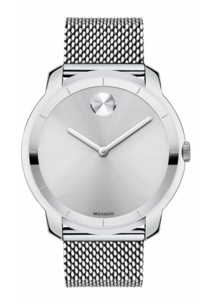 MOVADO Unisex Swiss Bold Stainless Steel Mesh Bracelet Watch 36mm