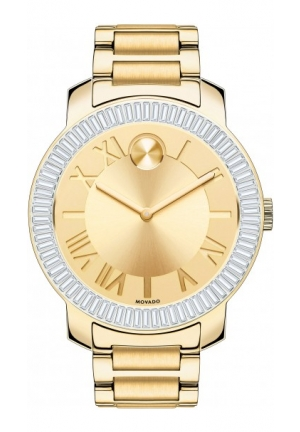 MOVADO Bold Champagne Dial Gold Ion-plated Ladies Watch, 39mm