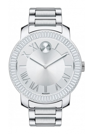 MOVADO Bold Silver Dial Stainless Steel Ladies Watch 39mm