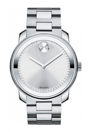 MOVADO Bold Silver Dial Stainless Steel Mens Watch , 42,5mm