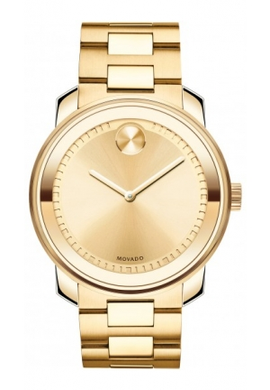 MOVADO Bold Gold Ion-Plated Stainless Steel Bracelet Watch , 43mm