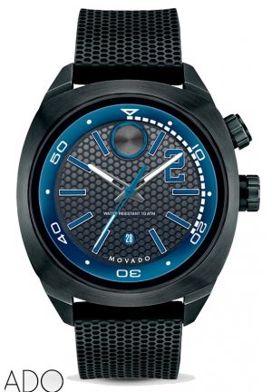 MOVADO Bold Derek Jeter Captain Black Dial Black Silicone Men's Watch