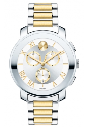 MOVADO Unisex Swiss Chronograph Bold Two-Tone Stainless Steel Bracelet Watch , 40mm