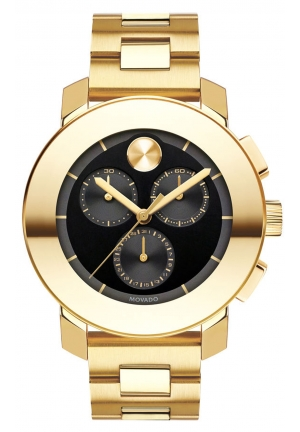 MOVADO Swiss Bold Gold Ion-Plated Stainless Steel Bracelet Watch 38mm