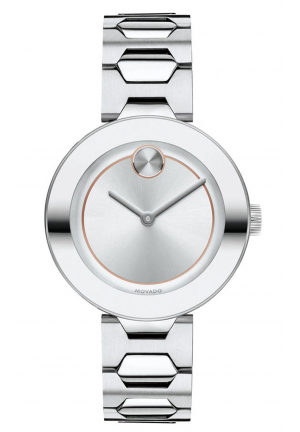 MOVADO BOLD STAINLESS LADIES WATCH, 32MM