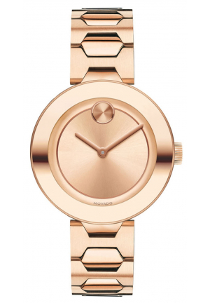 MOVADO BOLD ROSE GOLD PVD LADIES WATCH, 32MM