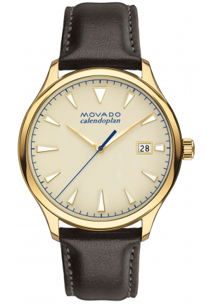 HERITAGE SERIES CALENDOPLAN YELLOW GOLD/STAINLESS MEN'S WATCH