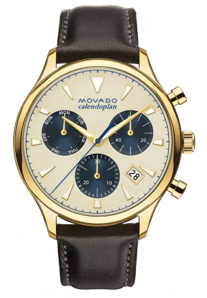 HERITAGE SERIES CALENDOPLAN CHRONOGRAPH YELLOW GOLD/STAINLESS MEN'S WATCH