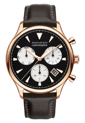 HERITAGE SERIES CALENDOPLAN CHRONOGRAPH ROSE GOLD MEN'S WATCH