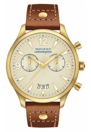 HERITAGE SERIES CALENDOPLAN CHRONOGRAPH GOLD MEN'S WATCH
