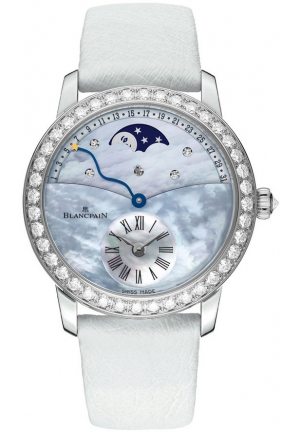 LADIES RETROGRADE CALENDAR MOONPHASE 3653-1954L-58B, 36MM