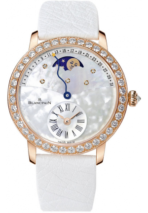 LADIES RETROGRADE CALENDAR MOONPHASE 3653-2954-58B, 36NMM