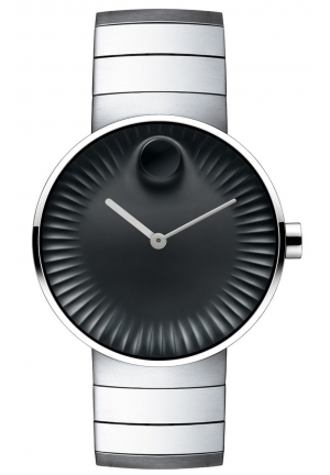 Movado Edge Men's 40 mm bracelet watch with black dial