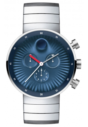 Movado Edge Blue Aluminum Dial Swiss Quartz