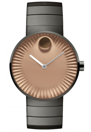 MOVADO EDGE GRAY ION-PLATED STAINLESS STEEL