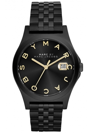 Unisex The Slim Black Ion-Plated Stainless Steel Bracelet Watch 36mm MBM3354