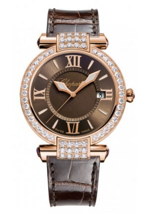CHOPARD IMPERIALE 18k rose gold, amethysts and diamonds, 36mm