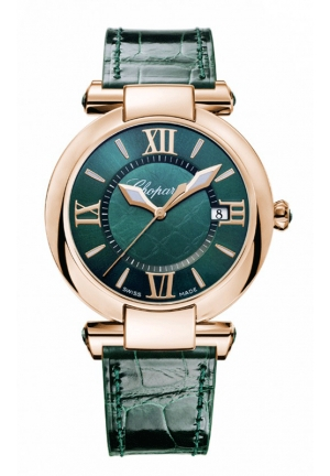 CHOPARD IMPERIALE 36 mm Watch 18-carat rose gold and green tourmalines