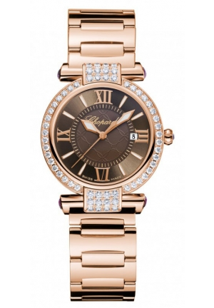 CHOPARD IMPERIALE 18k rose gold, amethysts and diamonds, 28mm