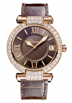 CHOPARD IMPERIALE 18k rose gold, amethysts and diamonds, 40mm