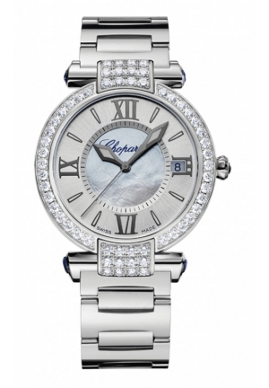 CHOPARD IMPERIALE 36 mm Watch 18-carat white gold, blue sapphires and diamonds Mã sản phẩm #:298922