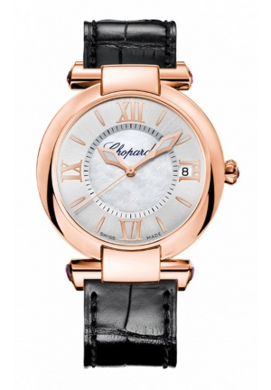 CHOPARD IMPERIALE 36 mm Watch 18-carat rose gold and amethysts
