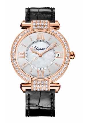 CHOPARD IMPERIALE 36 mm Watch 18-carat rose gold, amethysts and diamonds Back