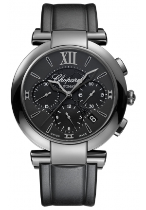 CHOPARD IMPERIALE Chrono DLC blackened stainless steel, 40mm