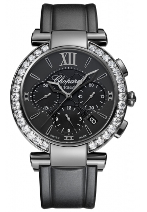 CHOPARD IMPERIALE Chrono DLC blackened stainless steel and diamonds, 40mm