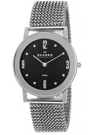 Skagen Black Dial Stainless Steel Expansion Band