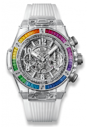 HUBLOT BIG BANG UNICO SAPPHIRE RAINBOW, 45MM 411.JX.4803.RT.4099