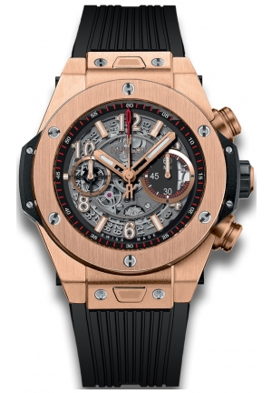HUBLOT Big Bang Unico King Gold Skeleton Men's Watch 45mm