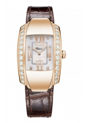CHOPARD La Strada Watch 18-carat rose gold and diamonds 45 x 26. mm