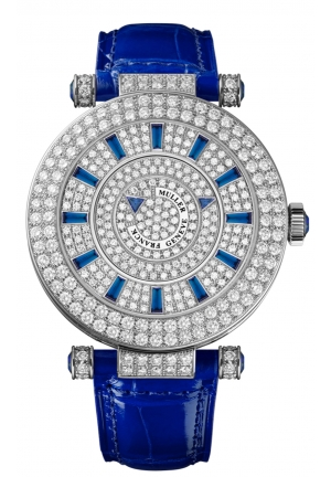 ROUND CLASSIC DOUBLE MYSTERY ELEGANCE LADIES WATCH 42 DM D 2R CD BLUE, 42MM
