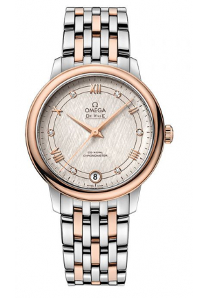 OMEGA DE VILLE 18kt ROSE GOLD & STEEL WHITE AUTOMATIC