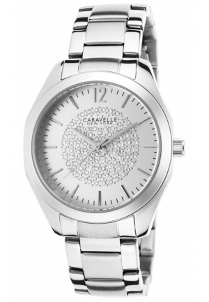 Caravelle New York Women's Analog Display Analog Quartz White Watch