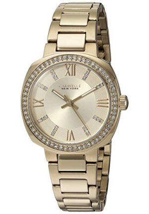 Caravelle New York Women's Quartz Stainless Steel Casual Watch, Color:Gold-Toned
