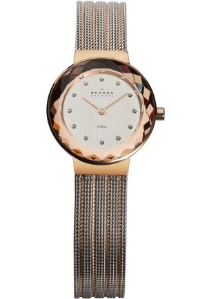 Skagen Women's 456SRS1 Leonora Stainless Steel Rose Gold Watch