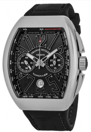 Vanguard Chronograph Automatic Black Dial Men's Watch