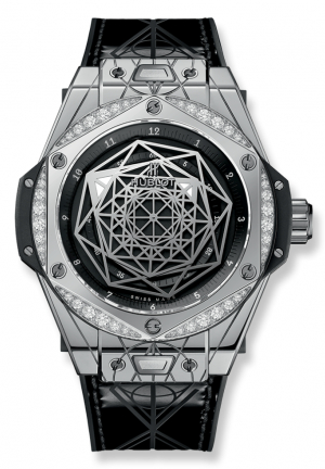 BIG BANG SANG BLEU STEEL DIAMONDS 465.SS.1117.VR.1204.MXM17 - 39MM
